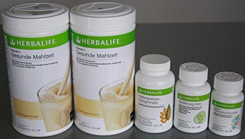 Herbalife Komplett Programm für Mahlzeiten für 30 Tage (2 x Shake, 1x Haferspelze, 1x Multi, 1x Ernährung-Aktiv)