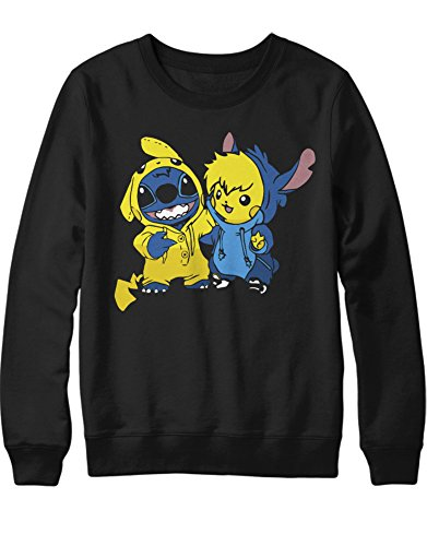 Sweatshirt Pika Stitch Freunde Friendship Game Poke C980022 Schwarz L