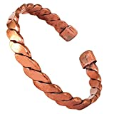 Hand Forged 100% Pure Copper Bracelet for Women & Men ~ Him & Her Set of Hammered Bracelet ~ Effective Relief for Arthritis, Joint Pain and Migraine (Spiral Healer - 1 pc)