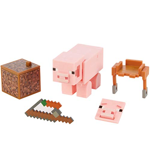 Minecraft Comic Maker Pig Action Figure, Multicolor