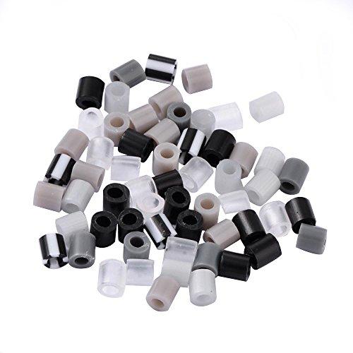 PandaHall- Lot de 1000pcs / 60g Mixte Style Perle a Repasser Tube PE Bricolage Perles Fusible Recharges Cadeau, Couleurs Melangees, 5x5mm, Trou: 3mm