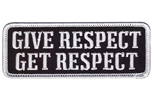 Titan One Europe - Tactical Give Respect Get Respect Biker Parche Motero Parche (Táctico)