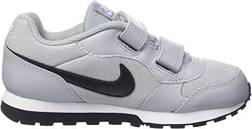 Nike Jungen MD Runner 2 (PSV) Low-Top, Grau (Wolf Grey/Blk-Ttl Crmsn-White), 28.5 EU
