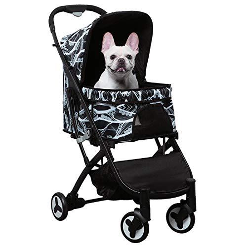 Zsmous Tragbare Kinderwagen Mit Tragbarem Korb Rotate Shockproof 4-Rad-Sonnenschutz Small Medium Reisekinderwagen Für Hunde Und Katzen