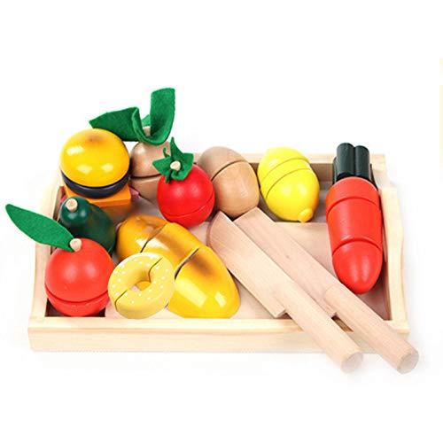BigNoseDeer Holz, gemüse zu schneiden Lebensmittel Lebensmittel Stellen Spielen 13 pcs küche Lernen, Essen