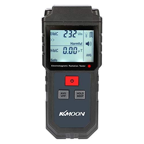 KKmoon EMF meter Digital LCD Elektromagnetische Strahlung Tester, Elektrische Feld Magnetfeld Dosimeter Detektor mit Ton und Licht Alarm