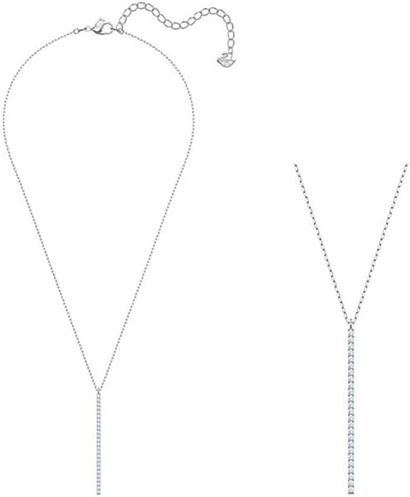 SWAROVSKI ONLY Y Necklace, White, Rhodium Plating 5462753