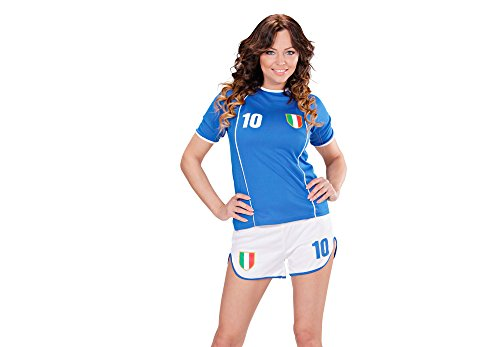 WIDMANN Italia - Copa del Mundo - Traje de ftbol para Damas Adultas - Disfraz - Large