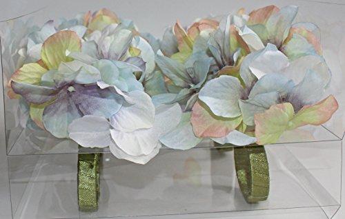 Nantucket Home Purple Blue Floral Flower Napkin Rings, Set of 4