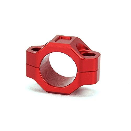 JFGRACING Plaque arrière de montage pour interrupteur d'arrêt moteur CNC pour guidon de 2,22 cm – Rouge