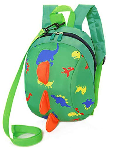 Kids Toddlers Dinosaur Backpack with Anti-Lost Safety Leash Harness Strap, Children Dragon Backpack Rucksack School Bag for Boys Girls (XKL-G)
