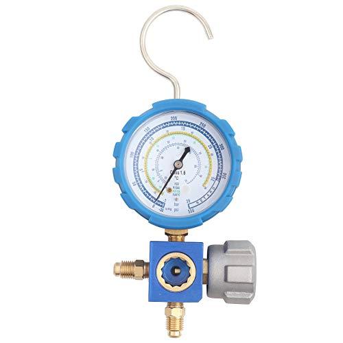A/C-Kälteanlagen, G1 / 4-Zoll-rutschfeste Kunststoff-Kältetechnik, mehrere Kältemittel für R22 / R410A / R134A / R407C Blau -30~550psi