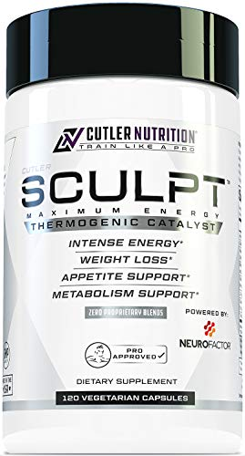 SCULPT Fat Burner Diet Pills: Best Weight Loss Energy Pills and Maximum Strength Thermogenic Metabolism Booster for Fast Weight Loss with Acetyl L Carnitine and Grains of Paradise, 120 Veggie Capsules