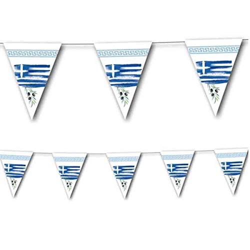 3,5m Wimpelkette * GRIECHENLAND * als Deko für Länderparty von DH-Konzept // Mottoparty Banner Girlande Partykette
