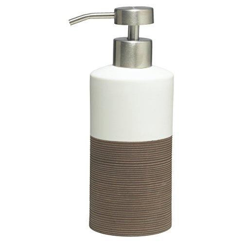 Sealskin Dispensador de Jabón Doppio, 6.7 x 8.5 x 18 cm, Porcelana, Marrón