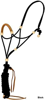 Mustang Elite Rope Halter with Leather Nose