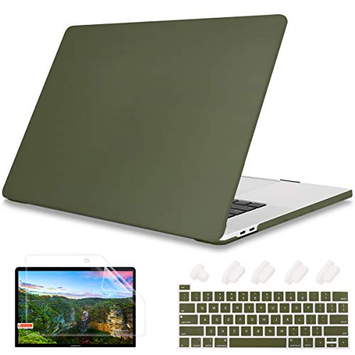 May Chen Newest for MacBook Pro 13 inch Case 2020 Release A2338 M1 A2289 A2251,Frosted Rubberized Matte Plastic Hard Shell Case Cover with Keyboard Cover for New Pro 13 with Touch Bar,Avocado Green