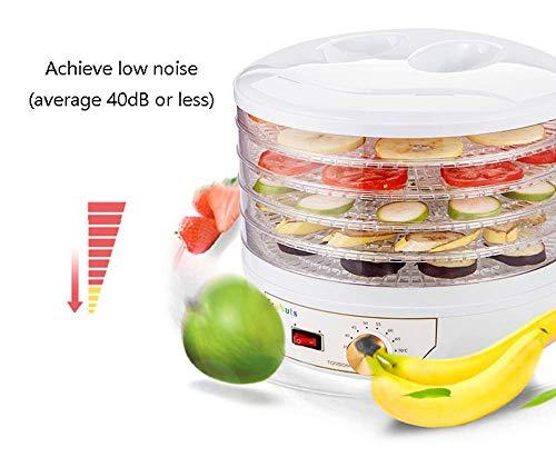 Best Bargain Food Dehydrators Machine Mini Household 5 Layer Fruit Dehydrater Transparent Tray 11L C...