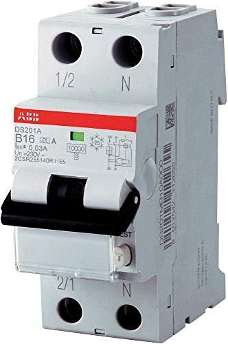 PK FI-Schutzschalter ABB-DS201A-B16/0,03 (2-polig, 230 V, 16 A), grau, 2CSR255140R1165