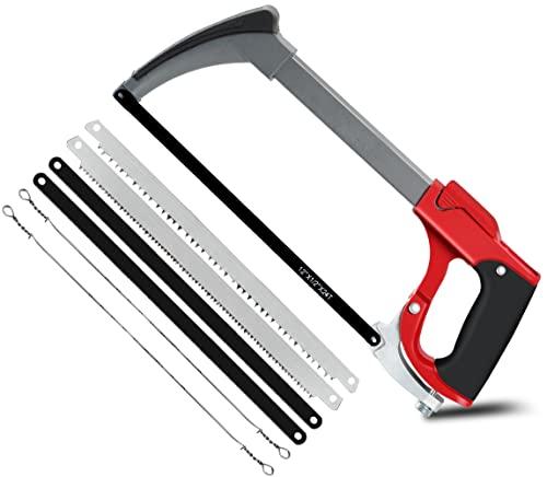 AIRAJ 300mm Mehrzweck-Metallbügelsäge,Hand-Bügelsäge mit 7 austauschbarer Bild