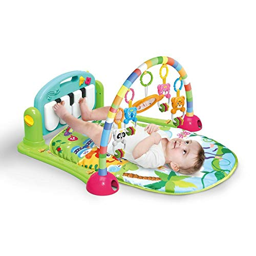 Meero London 666-7C-B New Born Baby Play Mat and Piano Activity Gym for New...