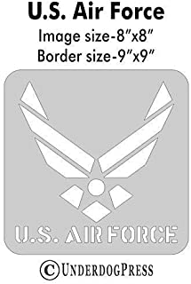 Stencil- U.S. Air Force, 8x8 Inch Image on 9x9 Border, Size 3