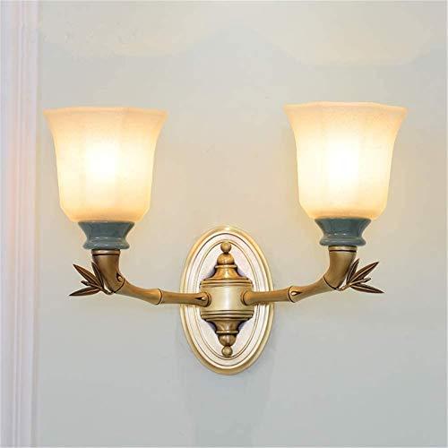 Lámparas de pared industriales, Luces de pared interior euriopeo francés francés retro doble e27 iluminación de la cama de la cama de la cama de la cabina de la sombra de la cabina decoración de la de