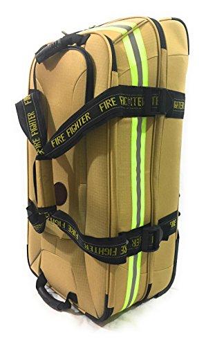 Fireflex Firefighter Rolling Travel Bag (Gold)