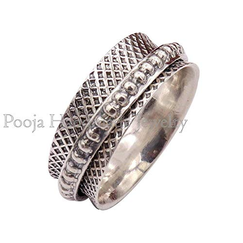 Amethyst Spinner band Ring* Anxiety Ring* Fidget Ring*925 Silver Ring*Spinning Ring*Bohemian Ring*Women Ring*gift for her Ring*Promise Ring*