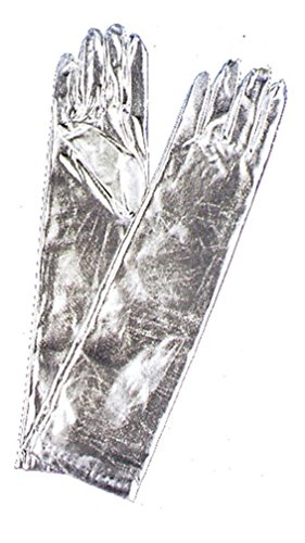 Costumes For All Occasions BA08SV Gants Coude m-tallique Argent