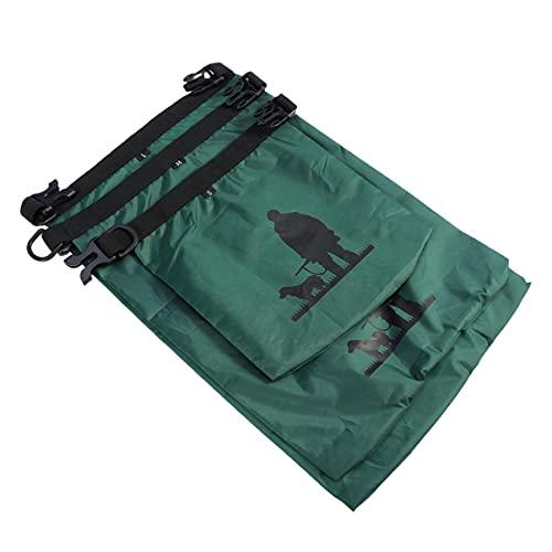 POPETPOP Bolsa Impermeable Al Aire Libre- 3 Piezas 1. 5L 2. 5L 3. 5L Bolsa Seca Resistente Al Agua para Acampar en Bote Pesca en Rafting (Verde)