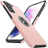 Anqrp Hiddenian Serier Hülle für Samsung Galaxy S21 5G, [Eingebetteter Ständer] [Wärmeableitung] Schwerlast Mehrschichtig Schutzstoßstange Schutzhülle für Samsung Galaxy S21 (6,2 Zoll), Rosa