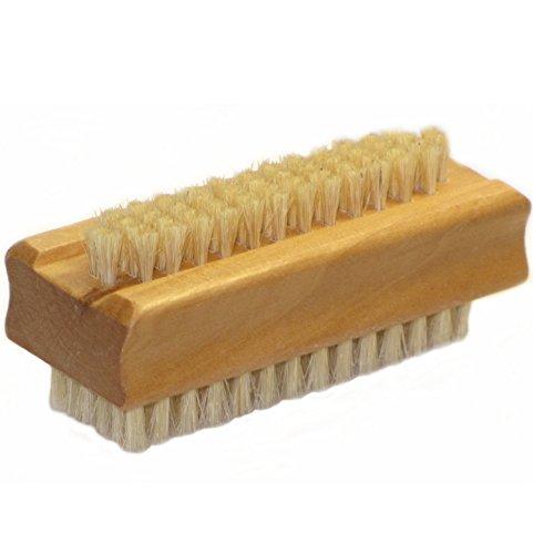 bürsti Brosse à ongles en fibre et véritable bois véritable, Brosse de lavage à main, brosse à main doigt Brosse à ongles