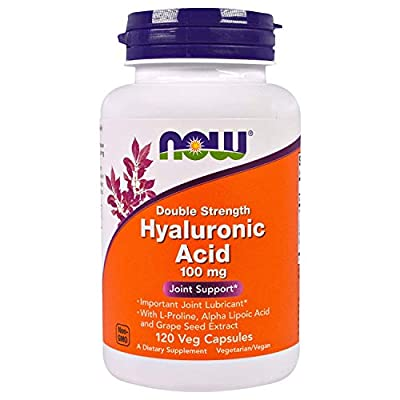 Hyaluronic Acid 2X Plus Veg Capsules, 100 mg - 120 ct (Pack of 2)