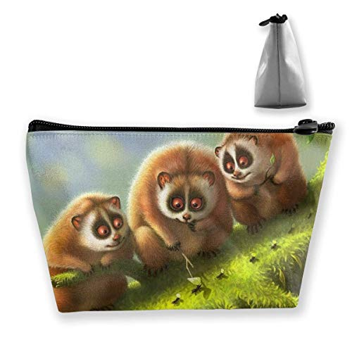 Trapezoid Makeup Pouch Storage Holder Slow Loris Womens Travel Case Cosmetic Makeup Pouch