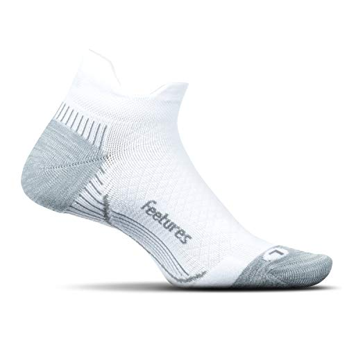 Feetures - Plantar Fasciitis Relief Cushion Sock - No Show Tab - Arch Support for Men and Women -...