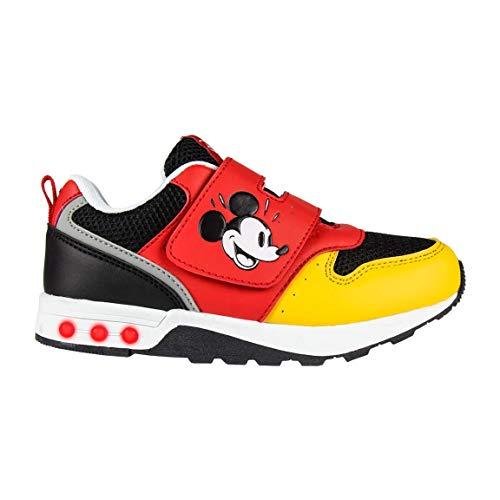 Artesania Cerda Deportiva Luces Mickey, Zapatillas para Niños, Rojo (Rojo C06), 30 EU