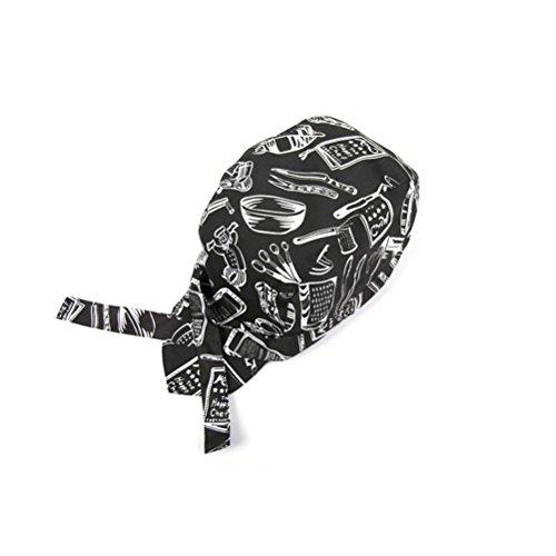 VORCOOL gorro de cocinero unisex Chefs sombrero cocina olla Skull Cap Cap cinta turbante cinta ajustable