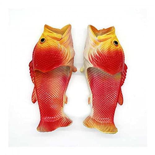 Divertidos zapatillas de peces creativos Unisex Zapatillas de animales Zapatillas de pescado animal  Sandalias casuales y zapatillas Tamaño 36 a 47 ( Color : Color 1 , Shoe Size : '47 )