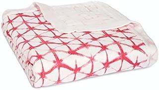aden + anais Silky Soft Dream Blanket | 100% Viscose Bamboo Muslin Baby Blankets for Girls & Boys | Ideal Newborn Nursery & Crib Blanket | Unisex Toddler & Infant Boutique Bedding, Berry Shibori