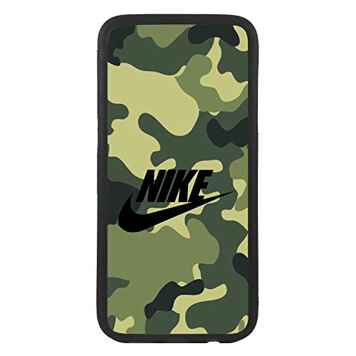 afrostore Funda Carcasa de móvil para Samsung Galaxy j7 (2016) Logotipo Nike Camuflaje Logo TPU Borde Negro