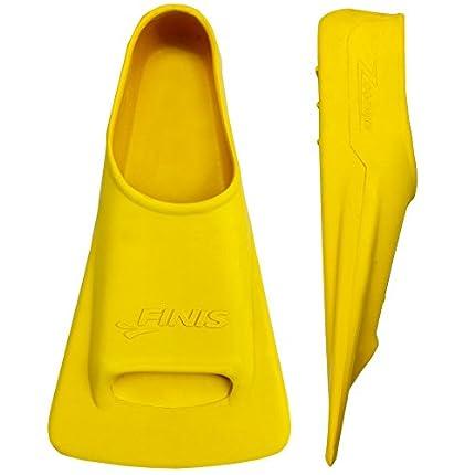 FINIS Adult Zoomers - Aletas de natación, tamaño 43-44, color amarillo