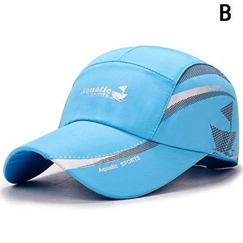 Nueva Gorra de béisbol Impermeable para Verano, Deportes al Aire Libre, Gorras Transpirables, Sombrero de Ocio de Moda, Sombrero de Lengua de Pato con Protector Solar Simple-B-Adjustable