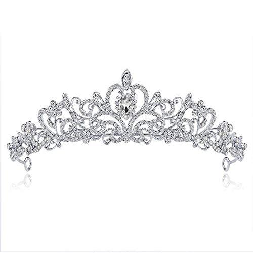 AWLLY Braut Kopfschmuck kristall Krone Prinzessin Brautjungfer Headwear Legierung Strass hochzeitskleid große Krone 5,2 * 17,1 cm