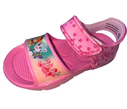 Paw Patrol Sandalen Badeschuhe Schuhe für Mädchen, rutschfeste Sohle, Klettverschluss, Kinderschuhe Sommerschuhe Schwimmschuhe rosa Gr.30/31