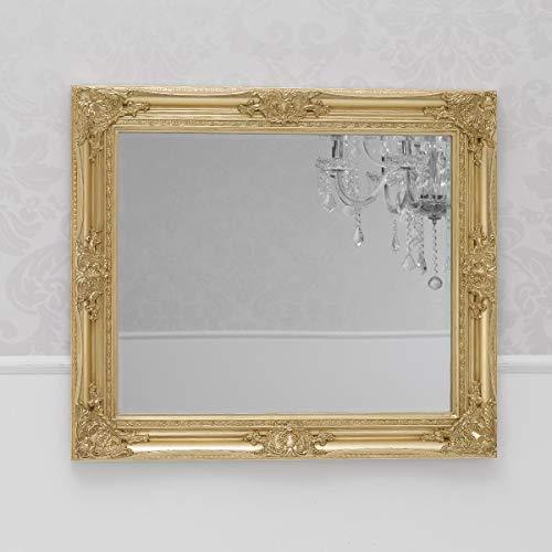 SIMONE GUARRACINO LUXURY DESIGN Specchiera Grigoria Stile Barocco Cornice intagliata Foglia Oro Specchio molato cm 75 x 65