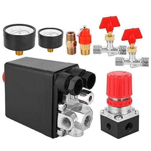 Conjunto de interruptor de presión, válvula de control del compresor de aire, conector G2-1/4in Pieza del compresor de aire de cuatro orificios cuadrados(Square Four Holes)
