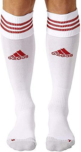 adidas Adisock 12, Medias para Hombre, Blanco / Rojo (White / University Red), 37-39 EU, 1 par
