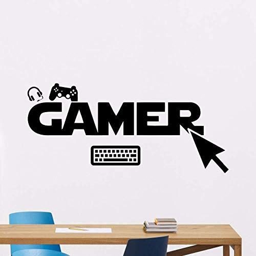 JXAA Creative GAMER toetsenbord en muis game console controller creatieve jongen slaapkamer gesneden muurstickers 42x94cm