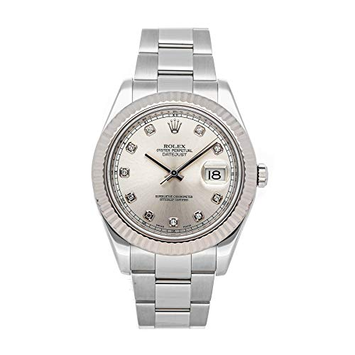 Rolex Datejust II Mechanical (Automatic) Silver Dial Mens Watch 116334 (Certified Pre-Owned)